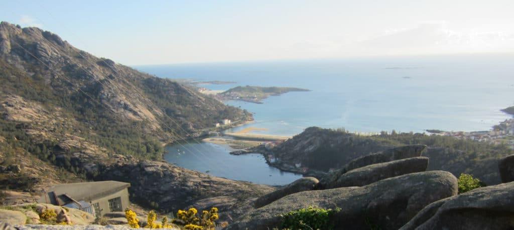 Lugar para grabar con Dron en Galicia. Ézaro