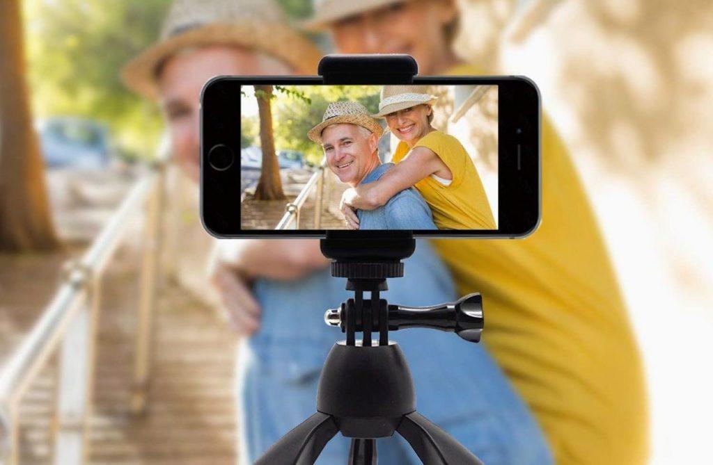 estabilizador cámara móvil con trípode