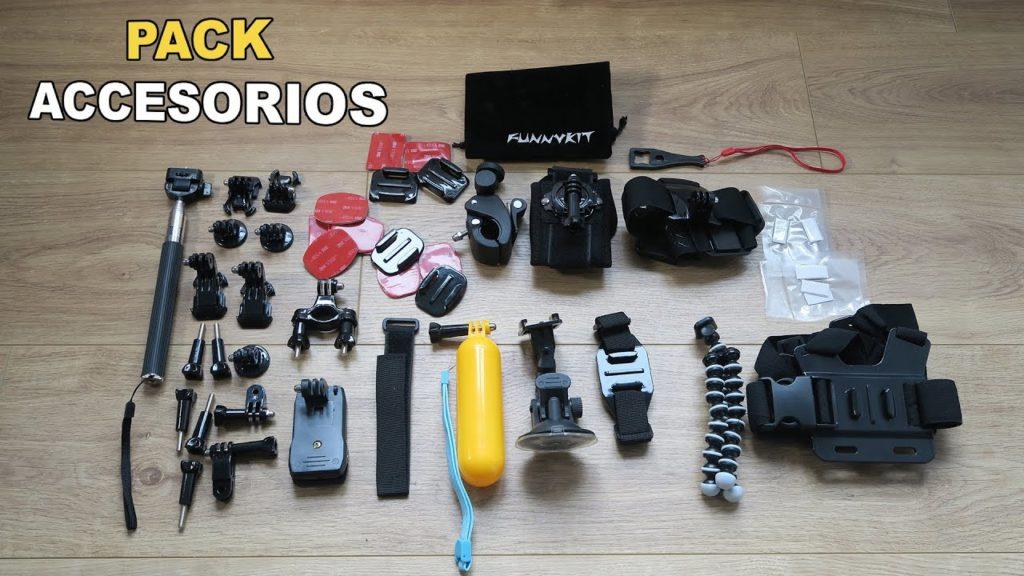 pack accesorios para mejores cámaras deportivas