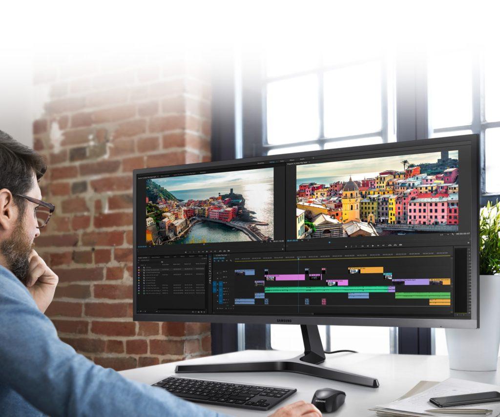 monitor panoramico plano en 4k