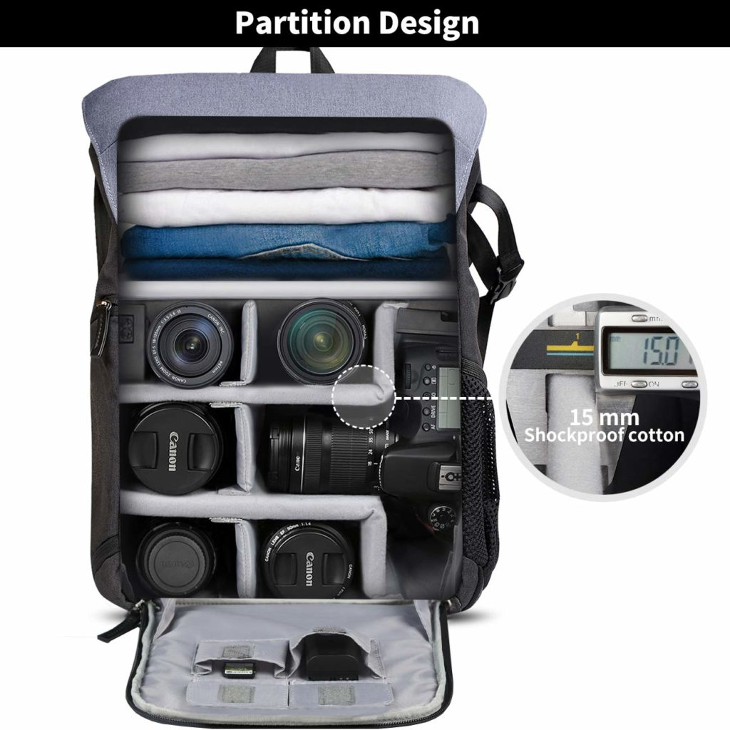 Mochilas cámaras Amazon Basics