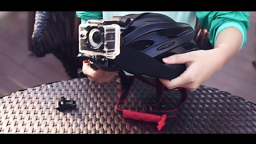 cámara soporte para casco bici moto