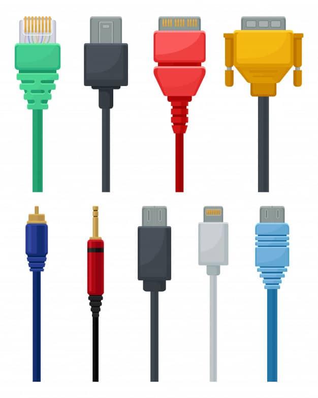 tipos de cables de video y audio